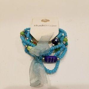Blue Stackable Bracelets